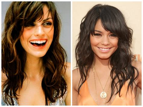 bang hairstyles  oval face shapes women