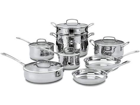 cuisinart contour stainless  piece cookware set