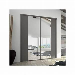 Porte Coulissante Placard Miroir : portes de placard coulissantes kontrast miroir argent et ~ Melissatoandfro.com Idées de Décoration