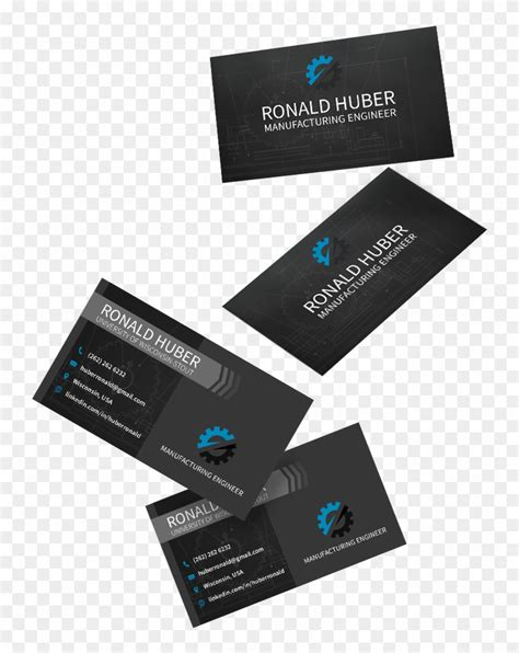 manufacturing engineering business card graphic design