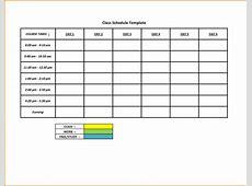 5 Day Schedule Template Portablegasgrillwebercom