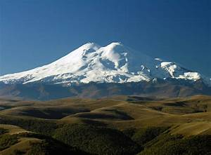 Mount Elbrus is a dormant volcano located in the western ...