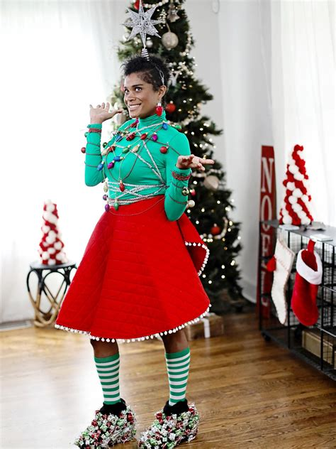ugly christmas sweater inspired outfit hgtv