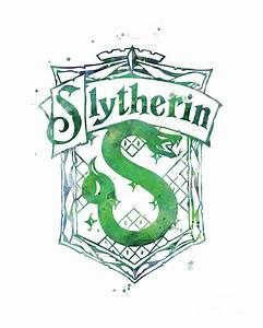 Slytherin Crest Mixed Media by Monn Print