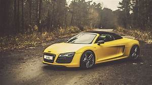 Yellow Audi R8 V10 Spyder Wallpapers - 1600x900 - 605968