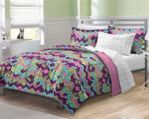 teenage girl comforter bed sets new albuquerque zigzag purple bedding comforter sheet set twinxl ebay