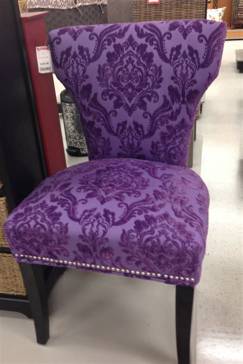 purple velvet upholstered side chair i purple
