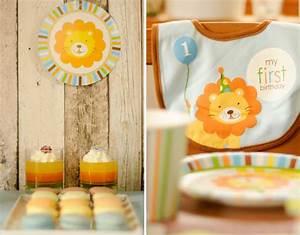 Deko Für 1 Geburtstag : loewe erster geburtstag deko sweet table baby belly party blog ~ Buech-reservation.com Haus und Dekorationen