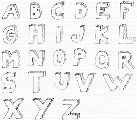how to draw block letters 3d letter alphabet for my drawing ideas 4731