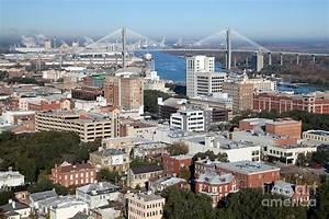 Downtown Savannah Skyline Photograph by Bill Cobb