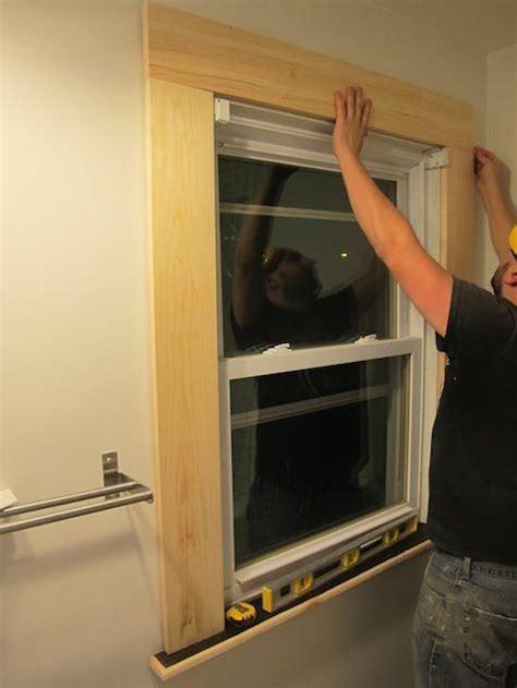 Redwood Window Sill by 25 Best Ideas About Window Trims On Farmhouse