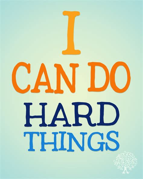 I Can Do Hard Things! {free Printable}  Shaffer Sisters
