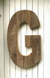 large rustic decorative wooden letter by With large rustic wall letters