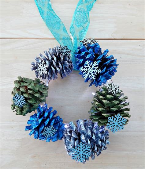 decorative diys    pine cone wreath guide patterns