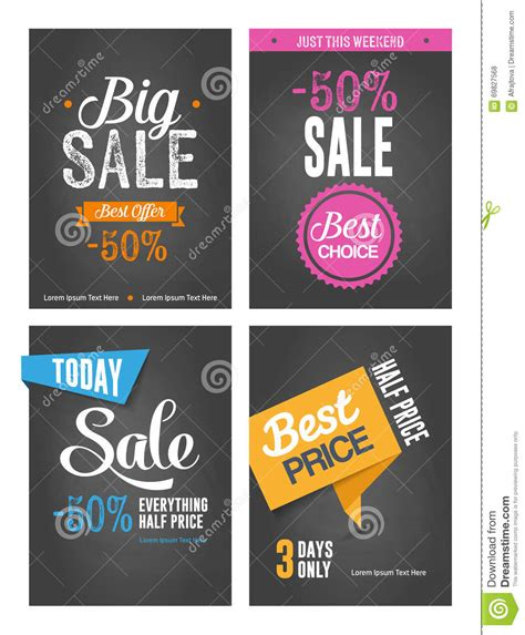 typographic sales posters stock vector image of retail 69827568