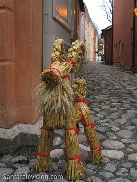 photo traditional finnish christmas decoration yule goat