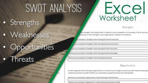 swot analysis format template excel sheet spreadsheet