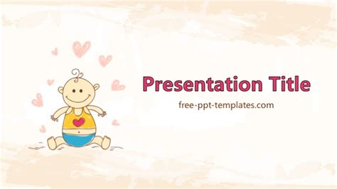 Baby Kids Template baby shower ppt template