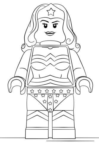 Lego Supergirl Pages Coloring Pages