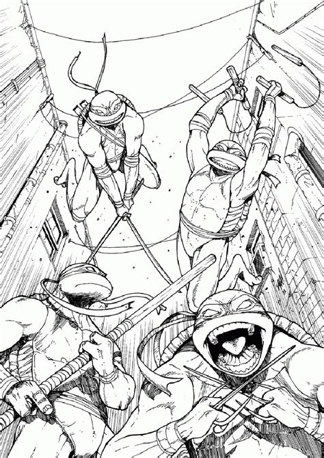 classic ninja turtle coloring pages coloring home