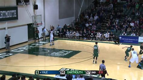 ivy league men  basketball march  yale dartmouth highlights darts connect