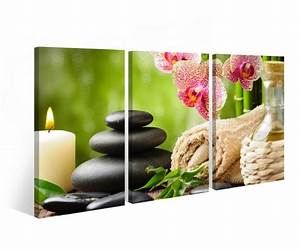 Bilder Feng Shui Steine : leinwand 3 tlg wellness feng shui steine stein blume kerze orchidee bild 9b251 leinwandbild ~ Whattoseeinmadrid.com Haus und Dekorationen