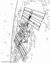 Coloring Satellite Space Orbital Printable Boys sketch template