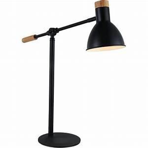 Lampe Chevet Scandinave : lampe de chevet flexible en bois et m tal style scandinave hofer noir achat vente lampe de ~ Teatrodelosmanantiales.com Idées de Décoration