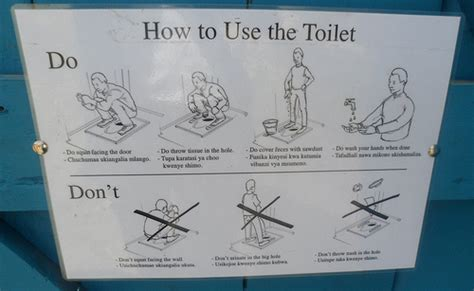 poster explaining how to use the toilet flickr photo