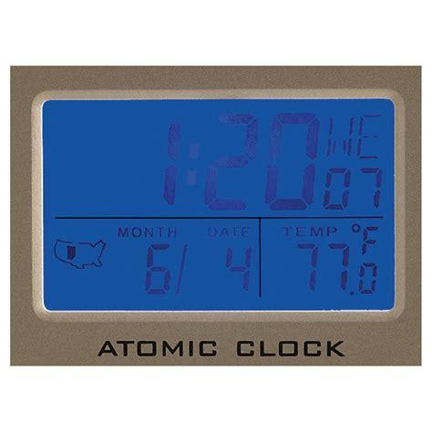 atomic desk clock atomic desk clock 617225 clocks at sportsman s guide