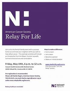 cancer research archives huntersville chamber With relay for life flyer template