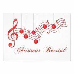 Music recital invitation card
