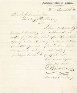stephen r mallory autograph letter signed 12 17 1861 ebay With historical letters for sale