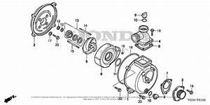 Honda Wb20xt3 A Water Pump  Tha  Vin  Wabt