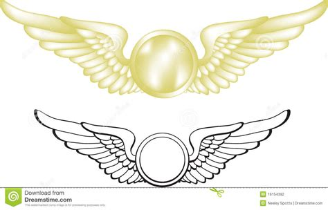 simple aviator black pilot wings stock vector illustration of gold