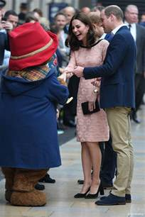 floral accessories kate meets paddington during visit to