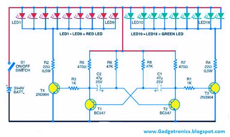 Led Christmas Lights Using Transistors Gadgetronicx