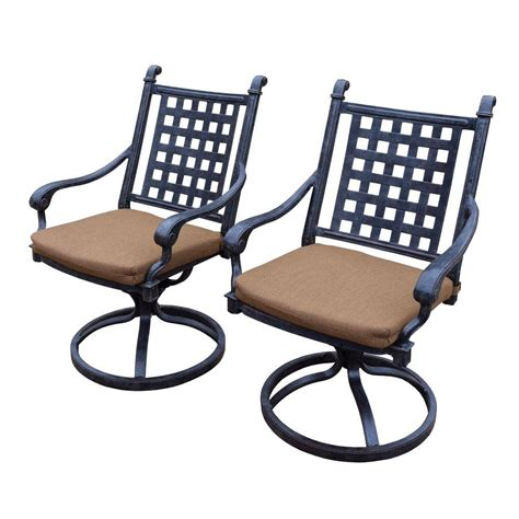hton bay edington cast back pair of patio swivel