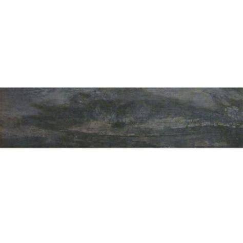 black ceramic tile home depot marazzi montagna smoky black 6 in x 24 in glazed porcelain floor and wall tile 14 53 sq ft