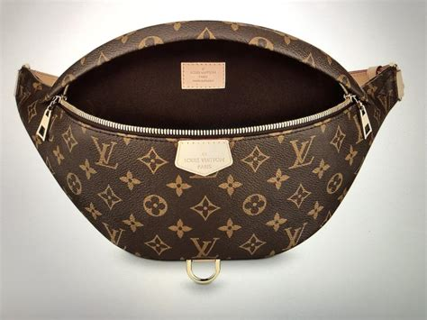 louis vuitton bumbag lv monogrambrown coated canvas  natural cowhide leather cross body bag