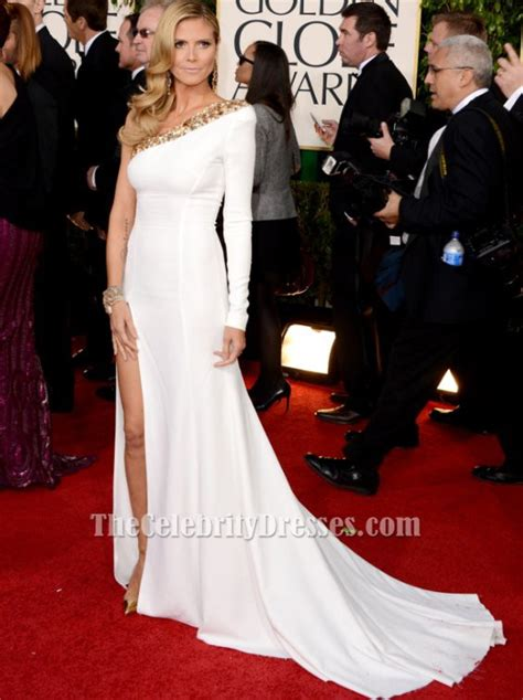 Heidi Klum White Prom Dress Golden Globe Awards Red