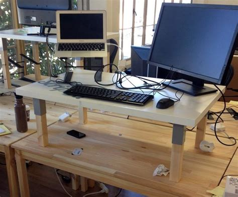 make a standing desk how to build a great standing desk for 50 huffpost
