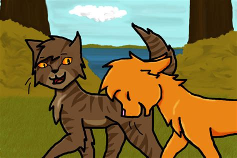 Brambleclaw And Squirrelflight By Yellowfangofstarclan On