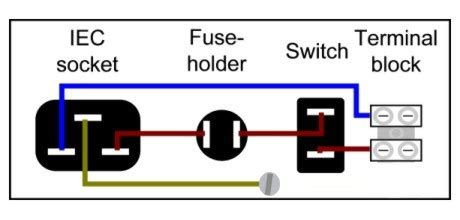 wiring diagram for iec plug building a gainclone chip power supply
