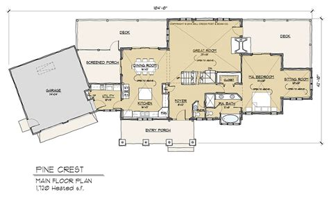 Pine Crest Timber Frame Floor Plan By Mill Creek