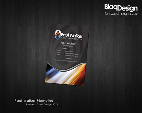 Paul Walker Plumbing Business Card Design By Blaqdesign On Business Uplifting Quotes Card Maker Design Crack In Cebu City Kotler Wix Attire Indonesia Networking And Sayings