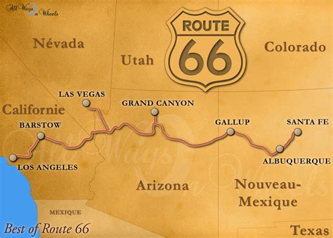 Carte Usa Villes Route 66 by Allwaysonwheels Best Of Route 66