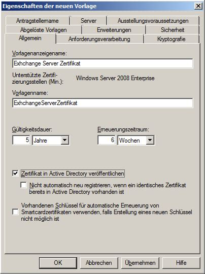 exchange  zertifikat und interne