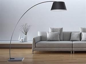 Luminaire Salon Design : lampadaire design luminaire lampe de salon noir benue ~ Teatrodelosmanantiales.com Idées de Décoration