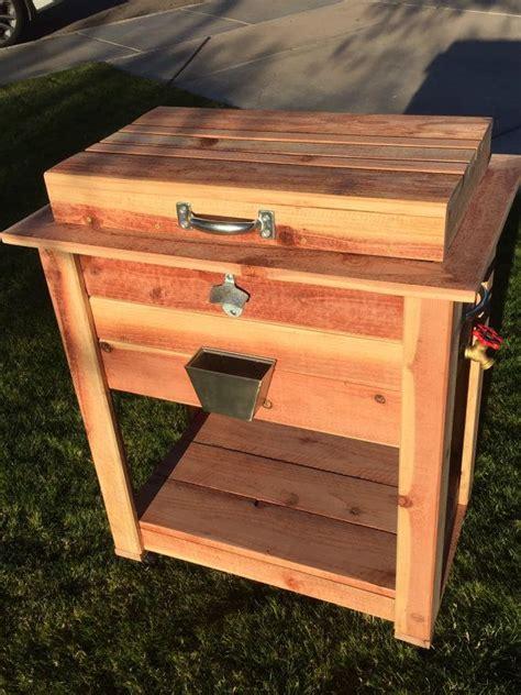 wooden ice chest plans images  pinterest